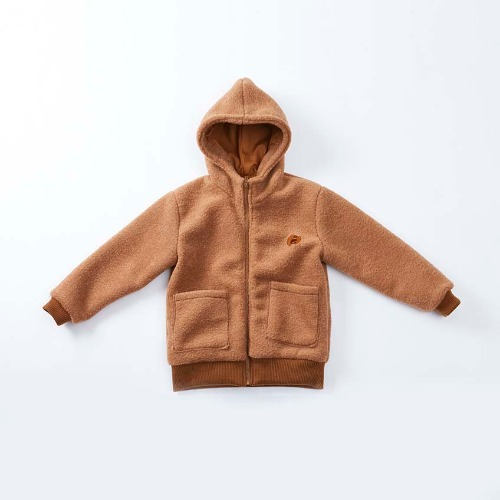 Alpaca hoody zip up-Camel:50%