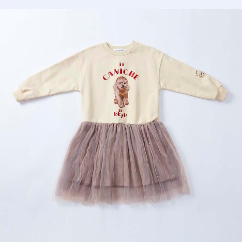 IVORY CHOCO TUTU DRESS-reorder